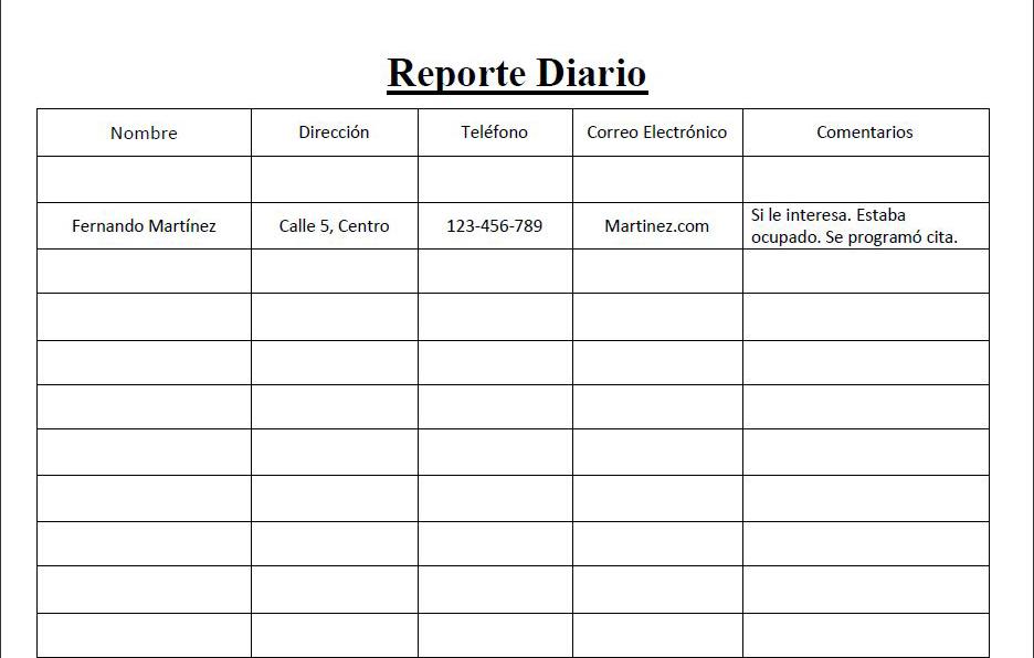 """Herramientas Poderosas para el Vendedor Profesional: """"El Reporte ..."""